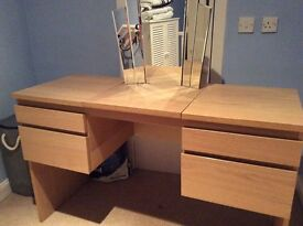 Ikea Dressing table in very good condition with fan shaped tri mirror