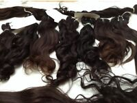 Raw unprocessed Indian temple hair extensions