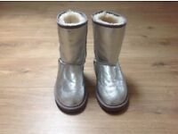 Ladies metallic silver ugg boots size 4