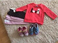Baby girls clothes & shoes NEW