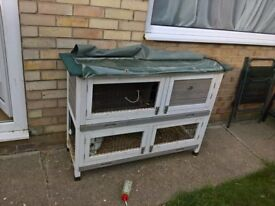 i have a white rabbit hutch for sale