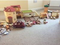 Huge Sylvanian Family Bundle (beechwood hall, country tree school, car, bus and lots more)