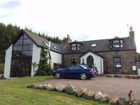 3 Double Rooms available in Farmhouse in AB12 - close to AWPR sites - all bills included