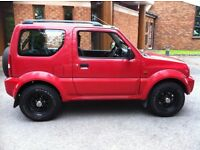 Suzuki Jimny 1.3 petrol red 4x4. MOT MAY 2017 FULL HISTORY EXCELLENT ON FUEL 36+ MPG