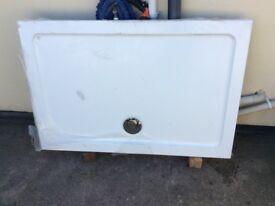 Large white shower tray