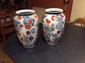 Pair of matching large vases