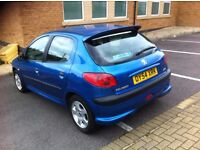 lovely peugeot 206 2004 1.1cc 5 doors 12 mot tax cheap to run insure quick sale maybe swap