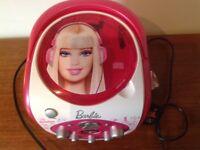 BARBIE CD Player X Factor Fan Digital Portable Pink Karaoke Machine Gift Microphone Missing