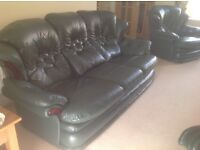 Quality 1 3 Piece Leather Suite