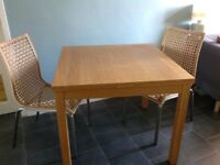 Extendable Ikea Dining Table and 2 Chairs - Good Condition