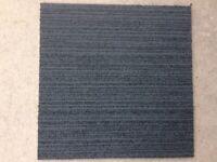 Carpet Tiles Grey Black Heavy Duty Used