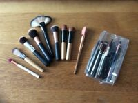 Selection of cosmetic brushes