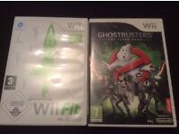 Nintendo Wii,2controllers,2nunchucks, wii fit board&game