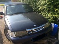 Saab 9-3 SE Turbo Convertible for spares or repair