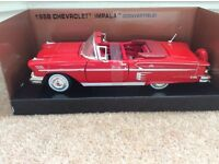 Chevrolet Impala 1958 1/24 Motor Max in Red model car