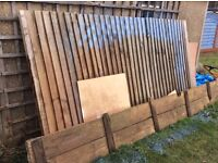 Free garden fence panel and scaffolding type wood and timber panels. Various