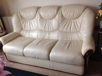 Italian leather sofa set 6 piece set
