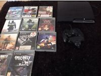 PS3 with a bundle of call of duty games