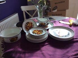 Snow White dinner set made in England