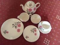 "Royalty ware ""Rose Demure"" Staffordshire tea set"