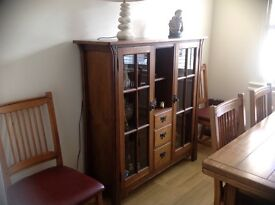 Rossmore by Sherry Oak Display Cabinet