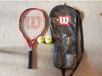 Wilson US open racket.