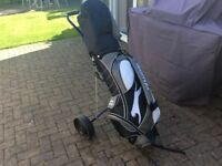 Full set of golf clubs, right handed, comes with bag and trolley. Excellent condition.