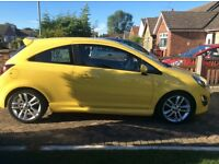 Vauxhall corsa Sri 1.4,2014,yellow,excellent condition,manual,petrol.