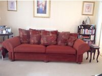 3seater sofa in excellent condition, seat cushions recently re-upholstered. Must be collected.