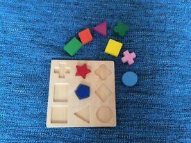 Wooden shape sorter puzzle, excellent condition