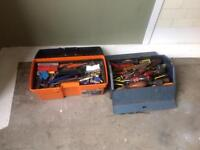 2 boxes full of hand tools