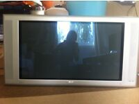 """Philips 37"""" Plasma flat screen TV with wall mount (model: S37SD-YD02)"""