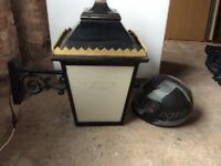 Massive electrical wall mounted lanterns,Victorian style,outdoor use, ideal for pub,bar or big house