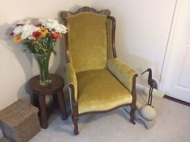 Antique Armchair Walnut Frame, Late Victorian