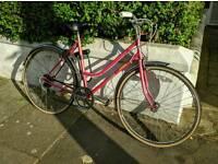 Ready-to-ride lady bike