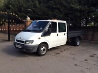 Ford transit tipper T350 crew cab NO seats in back