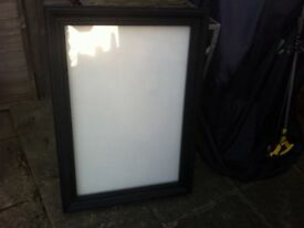 Black framed glass panel picture frame