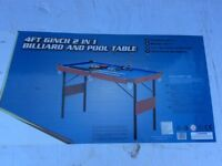 "4'6"" Pool / Billiards Table BRAND NEW IN BOX"