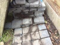 APPROX 90 BLOCK PAVERS AND 27 PAVING FLAGS