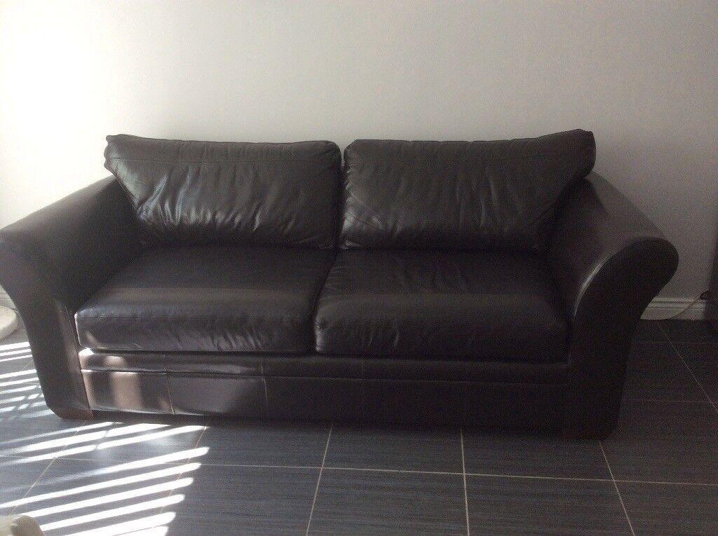 Beautiful Extra Large 3 Seater Leather Sofa
