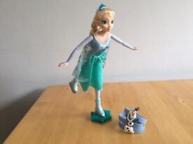 Frozen Elsa Skating Doll with Olaf Bracelet
