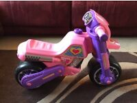 MOLTO CROSS ULTIMATE RIDE ON, PINK AND PURPLE TODDLER MOTORBIKE