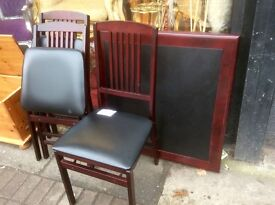 Fold up table & 3 chairs