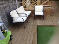 Two and Three Seat Garden Set, pick up from, isle of dogs, e14 3be, London.