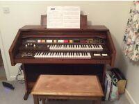 Elka Organ lockable with roll top
