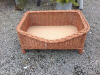 CAT OR DOG WICKER PET BED.