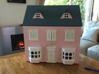 Dolls House with characters and furniture