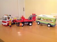 Playmobil bundle - Transporter, Tow Truck and Delivery Van