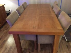 Large Solid oak rectangular Dining Table,made to order in good condition originally cost £750