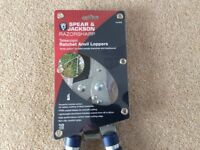 Spear & Jackson Razorsharp Telescopic Ratchet Anvil Loppers